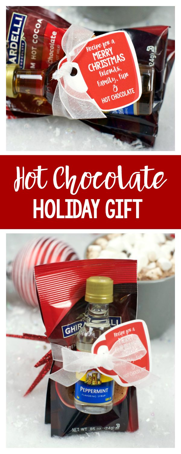 Flavored Hot Chocolate Gift Idea for Neighbors or Friends