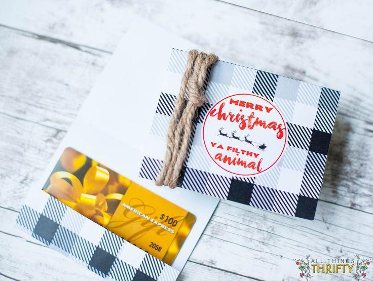 DIY Gifts 2018 /2019. Free Printable Christmas Gift Card Holders