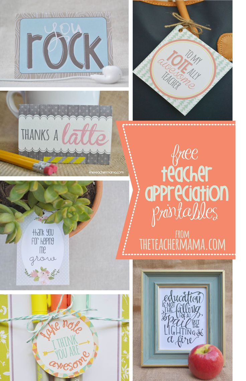 free teacher appreciation printables {roundup}