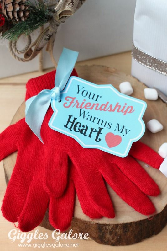 Diy Gifts Ideas Friendship Warms Heart Gift Tag Christmas Gift