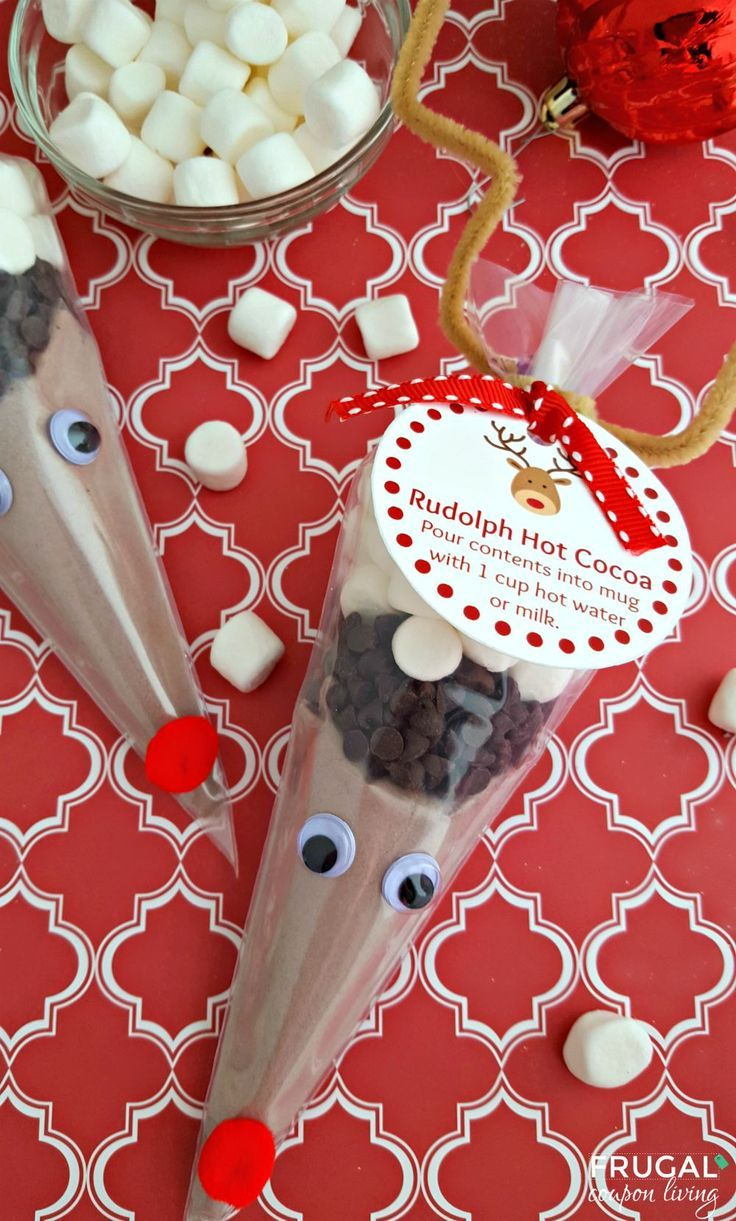 Frugal Coupon Living's Rudolph Hot Cocoa + FREE Printable Gift Tag. Kid's Food C...