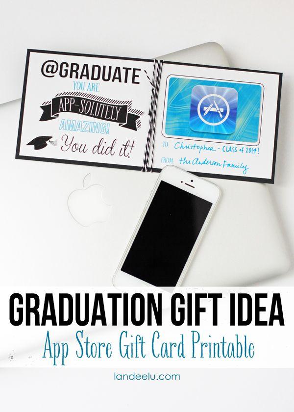 Diy Gifts Ideas Graduation Gift Idea App Store Gift Card