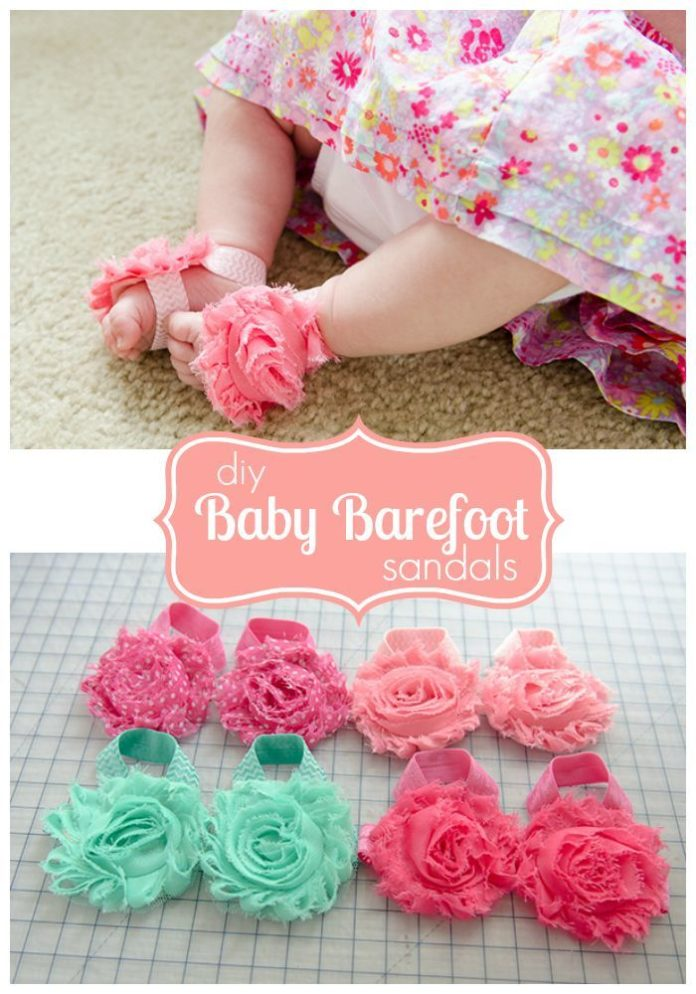 how to make baby sandals at home