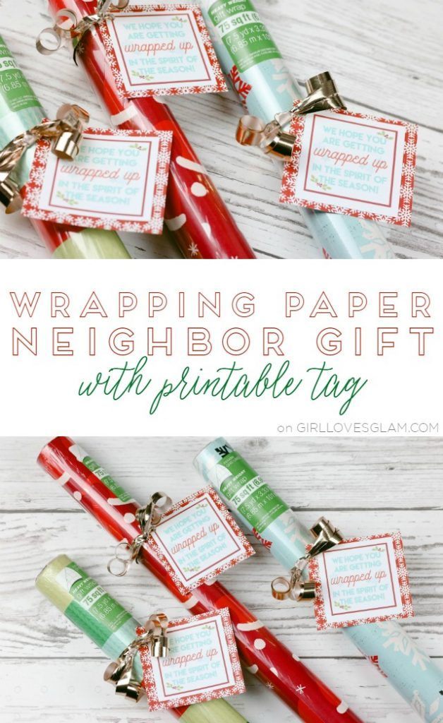 Incredibly simple neighbor gift idea to give wrapping paper for friends to use! ...