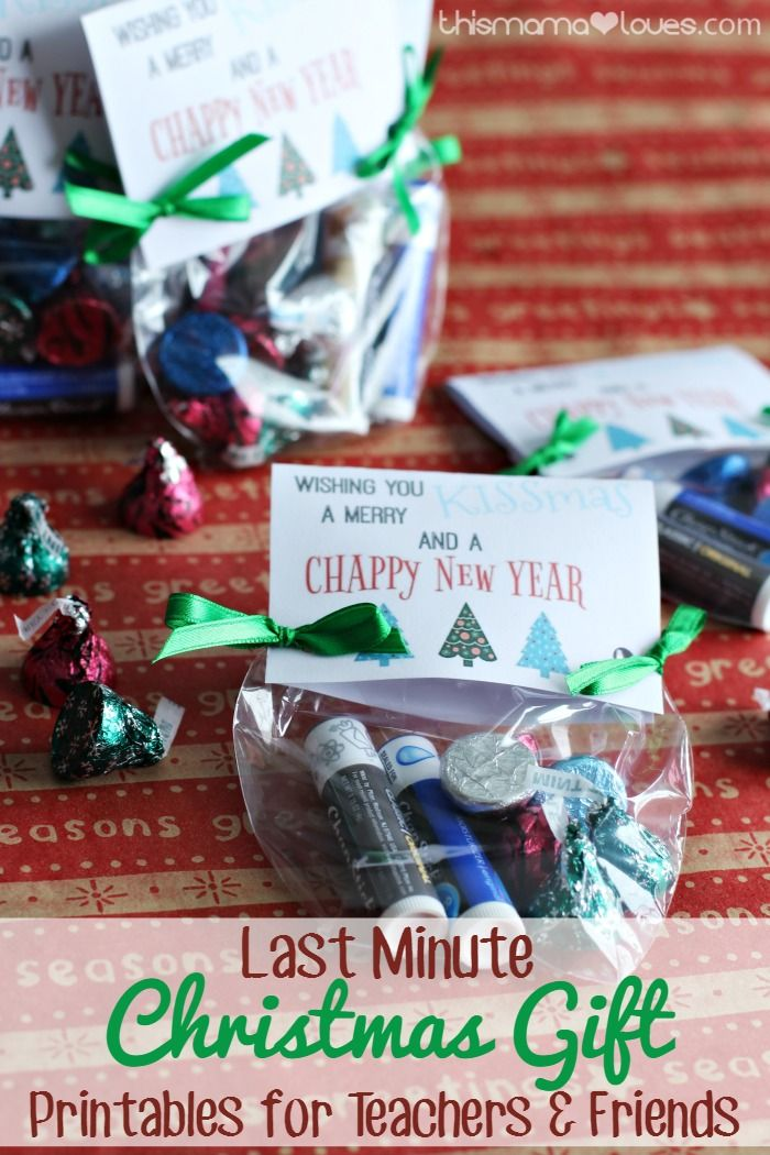 Last Minute Christmas Gift Printables for Teachers and Friends #christmasprintab...