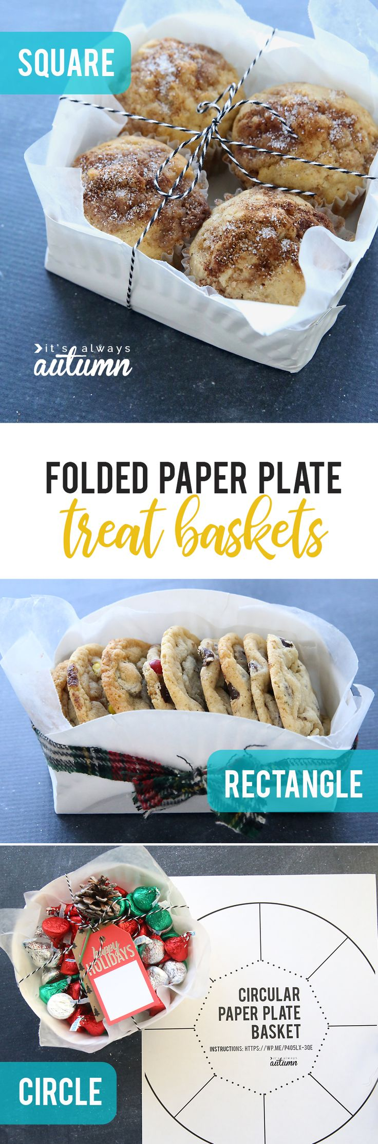 Learn how to make an adorable treat basket from a cheap paper plate! Three diffe...