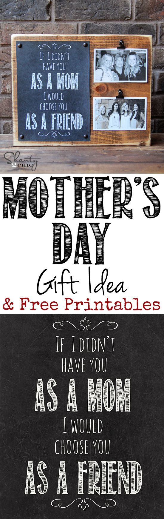 Diy Gifts Ideas Love This Mothers Day Gift And Free Printable