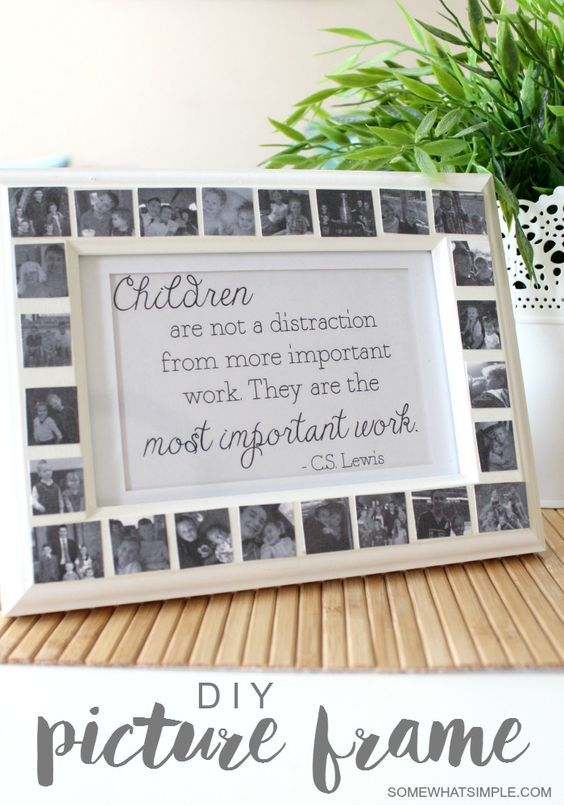 DIY Gifts Ideas : Mod Podge Frame + Free Printable - Somewhat Simple ...