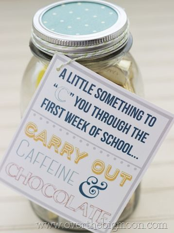 Perfect gift for your child's teacher on the first day of school! Free Print...