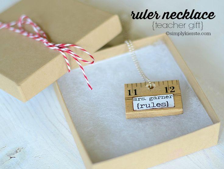 Ruler Necklace | simplykierste.com - Teacher Gift Idea