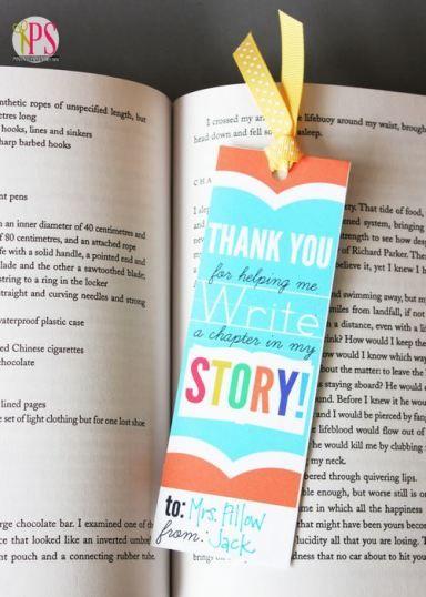 Teacher Appreciation Bookmarks -