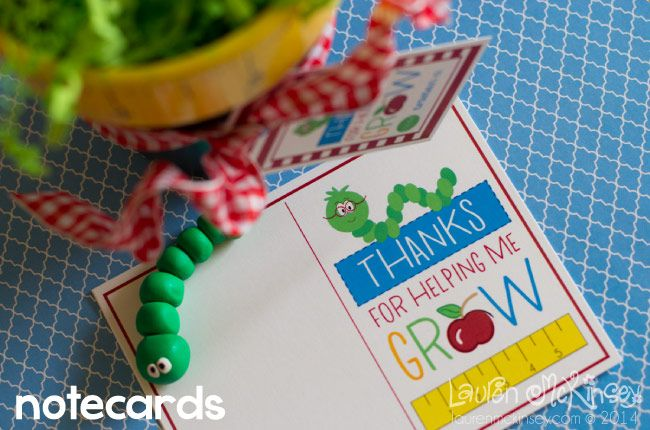 Thanks for helping me grow printable collection from Lauren McKinsey :: notecard...