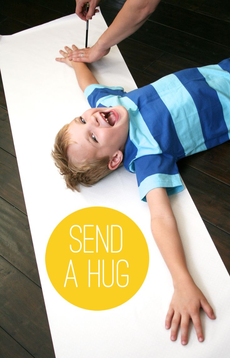 DIY Gifts Ideas Trace Your Arms And Mail A Hug To
