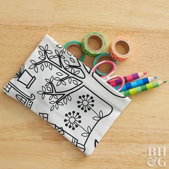 Perfect for stashing craft supplies or tossing in your purse, these DIY fabric p...