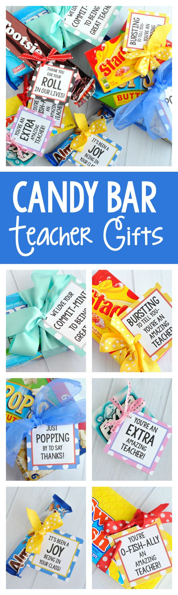 DIY Gifts : Teacher Appreciation Gifts-Candy Bar Gifts ...