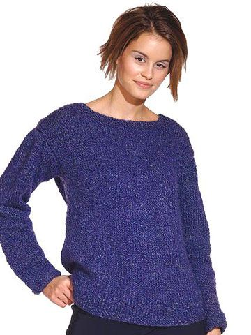 This entry-level project would make the perfect first sweater for the new knitte...