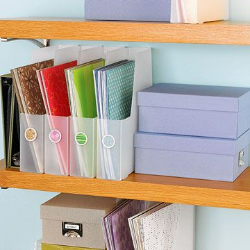 Tidy up your scrapbooking supplies with these easy storage solutions.
