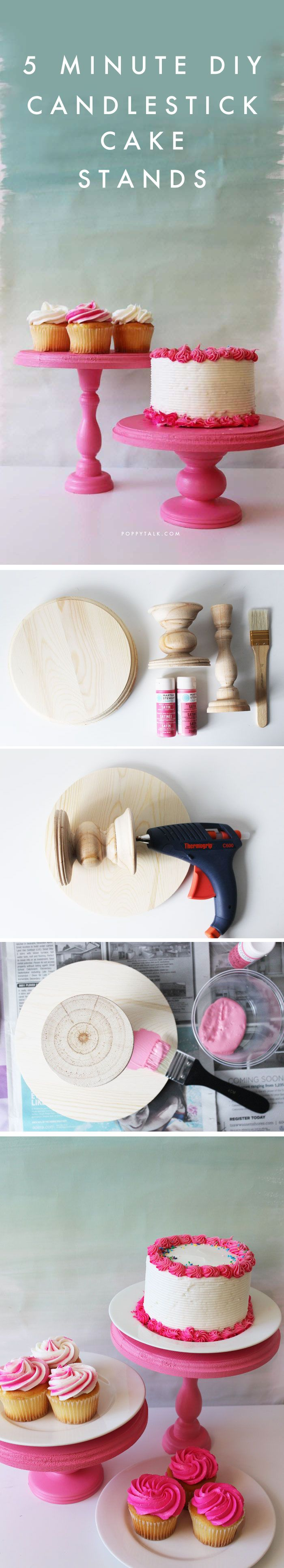 5 Minute DIY using wooden candlesticks, a round plaque and a glue gun! So easy a...