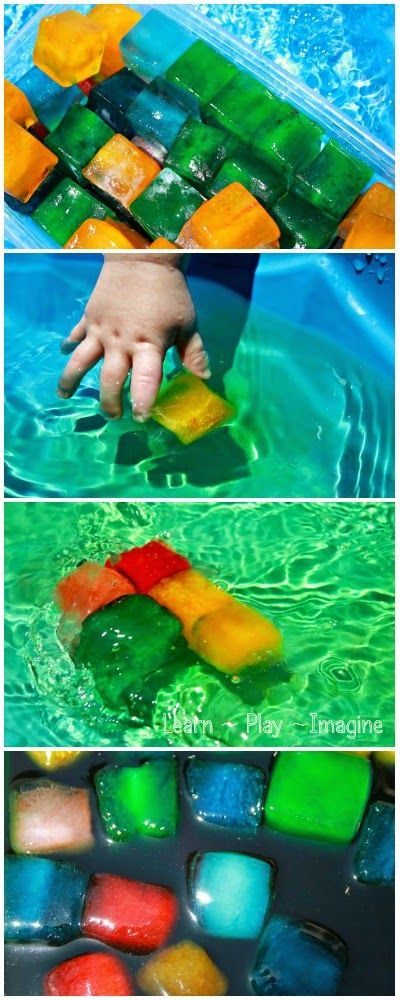 Baby and toddler safe sensory play for summer - I love how easy this is to set u...