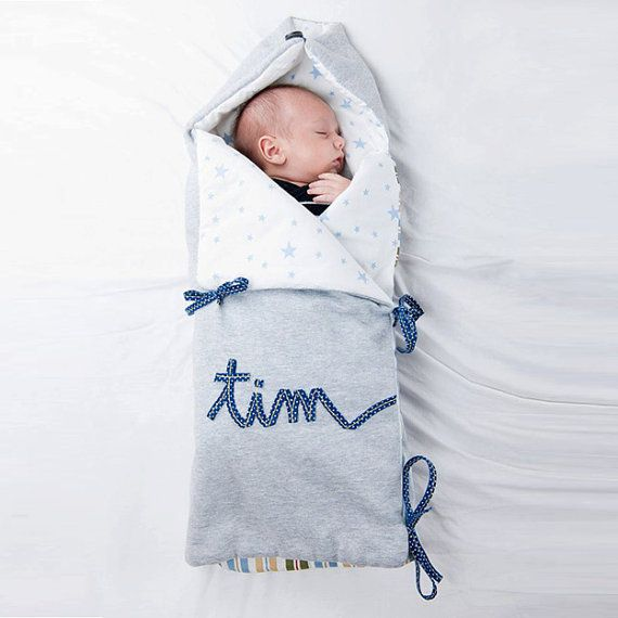 Diy wrapping gifts inspiration baby boy nest with embroidered diy wrapping gifts inspiration baby boy negle Choice Image