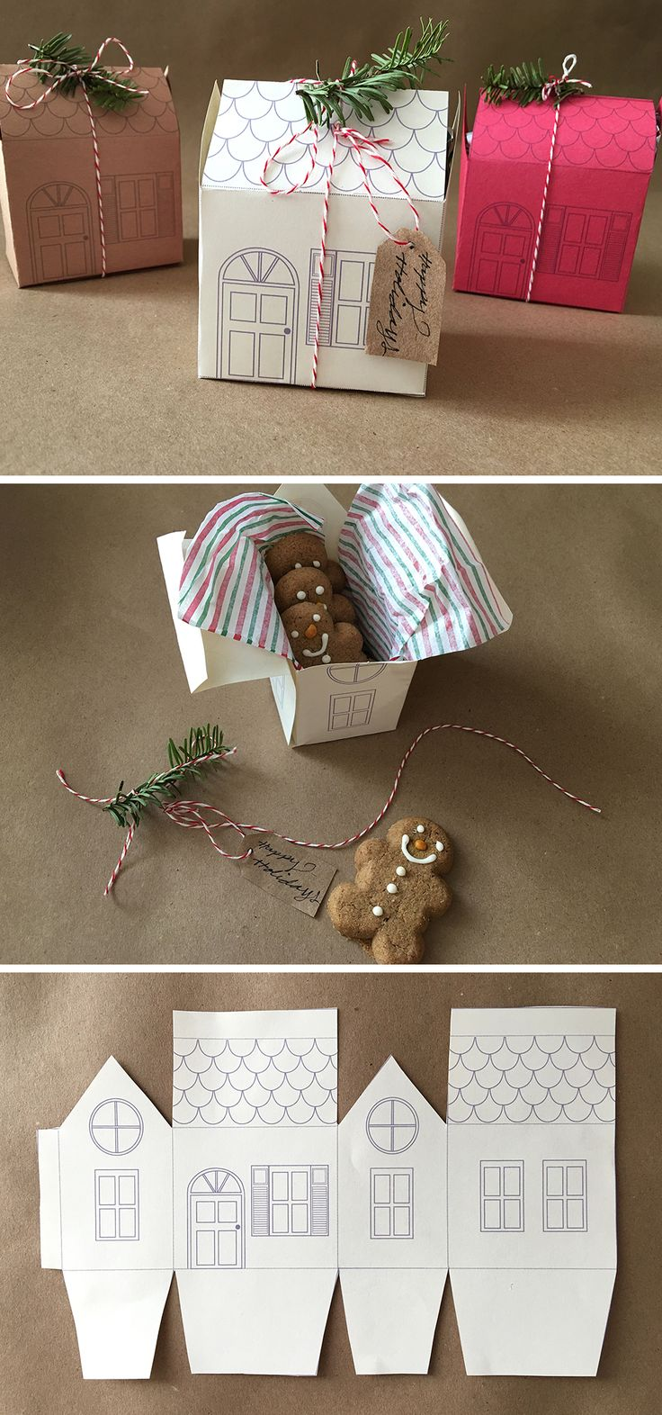 DIY: • Holiday Mini House Gift Box DIY • Danica shows how to make the cutest...