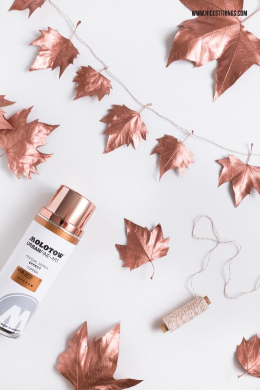 Diy Wrapping Gifts Inspiration Diy Copper Leaf Garland Tutorial