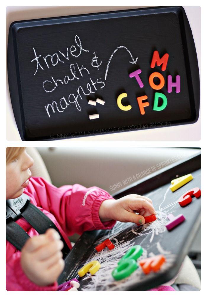 DIY Kids Travel Activity Board [From the Mamas] - #kids #DIY at B-InspiredMama.c...
