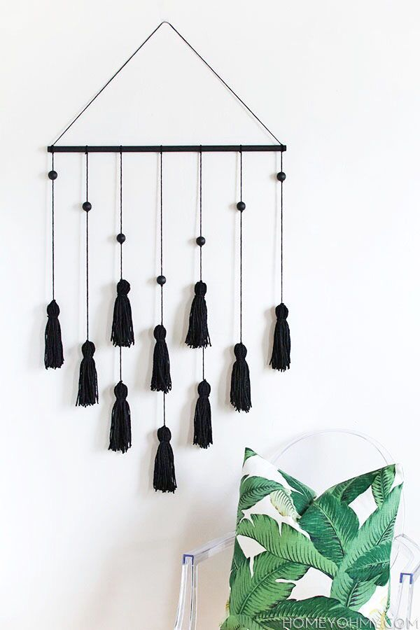 DIY Modern Tassel Wall Hanging
