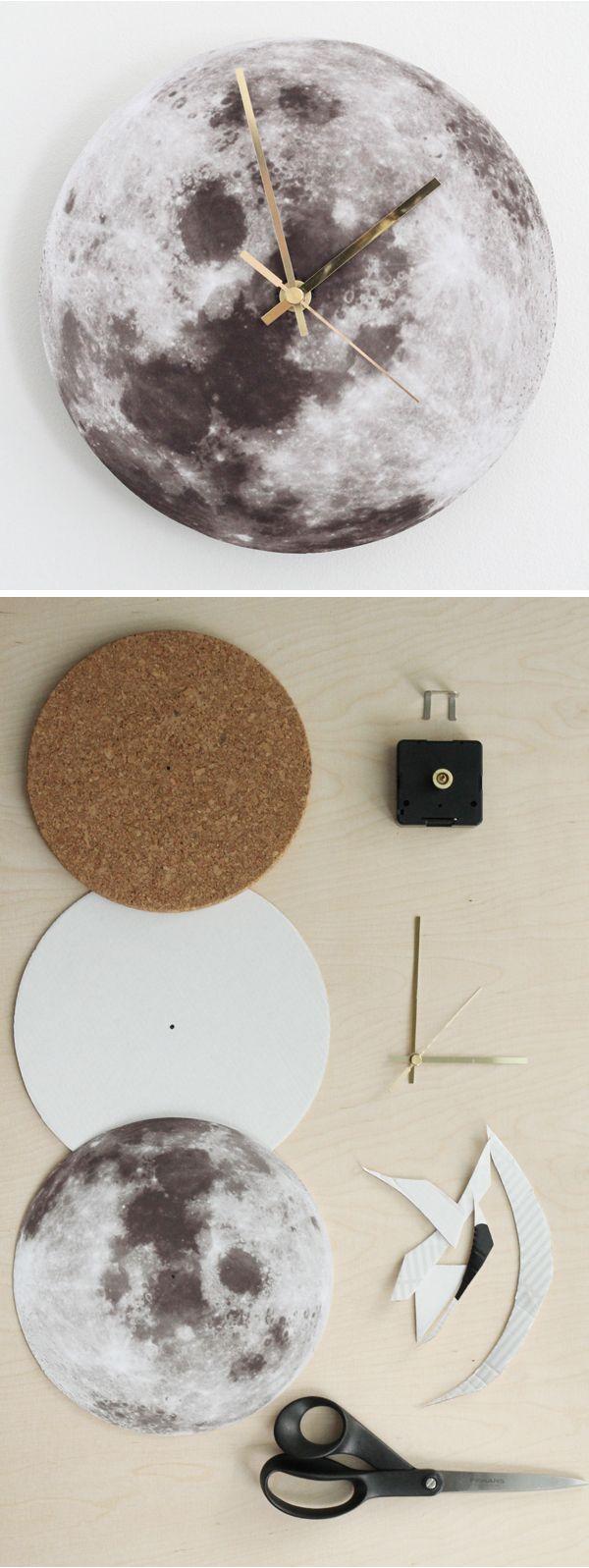 DIY moon clock tutorial translate.google....