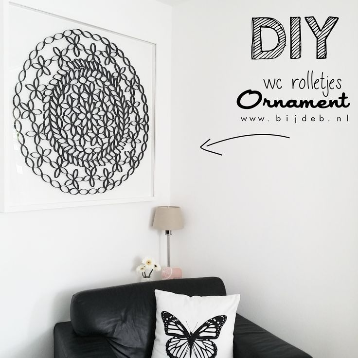 DIY wc- rolletjes ornament maken...