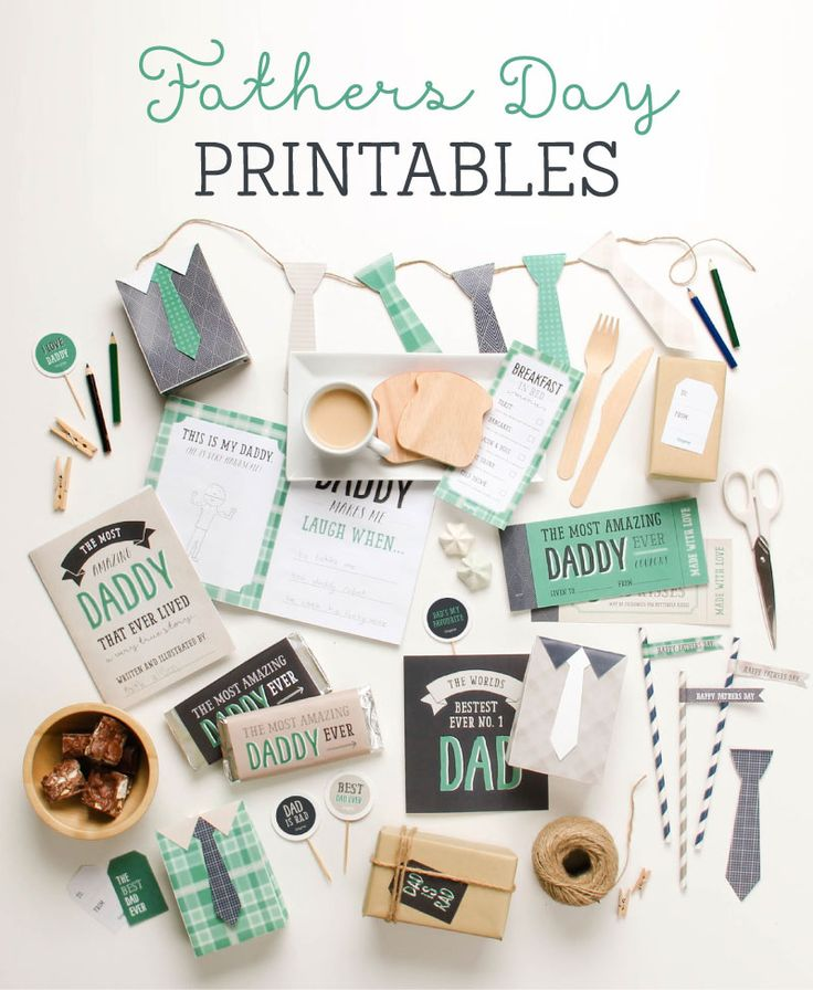 FREE Fathers Day Printables ~ Tinyme