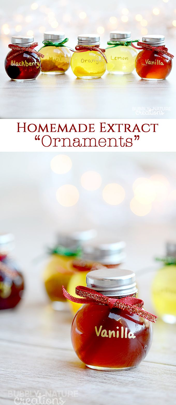 DIY Wrapping Gifts Inspiration : Homemade Extract Ornaments!! Such a ...