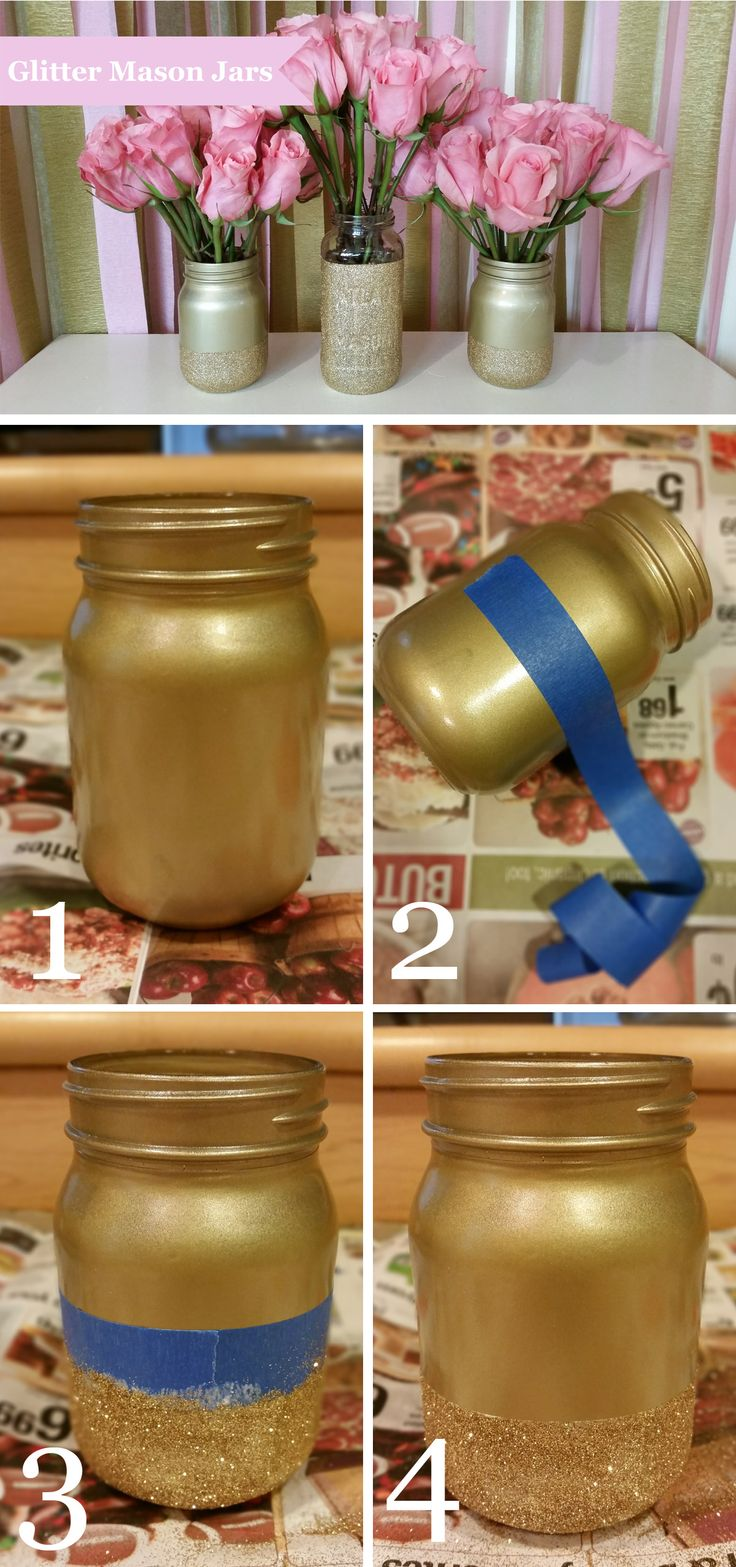 Diy Wrapping Gifts Inspiration How To Make Glitter Mason Jars