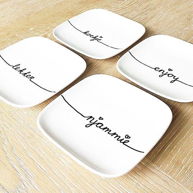 Is het al tijd voor thee met koekjes ? Gister de diy-porseleinstift-versierde-bo...