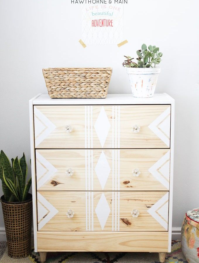 Love this RAST IKEA hack. All you need are a few supplies to make over this chea...