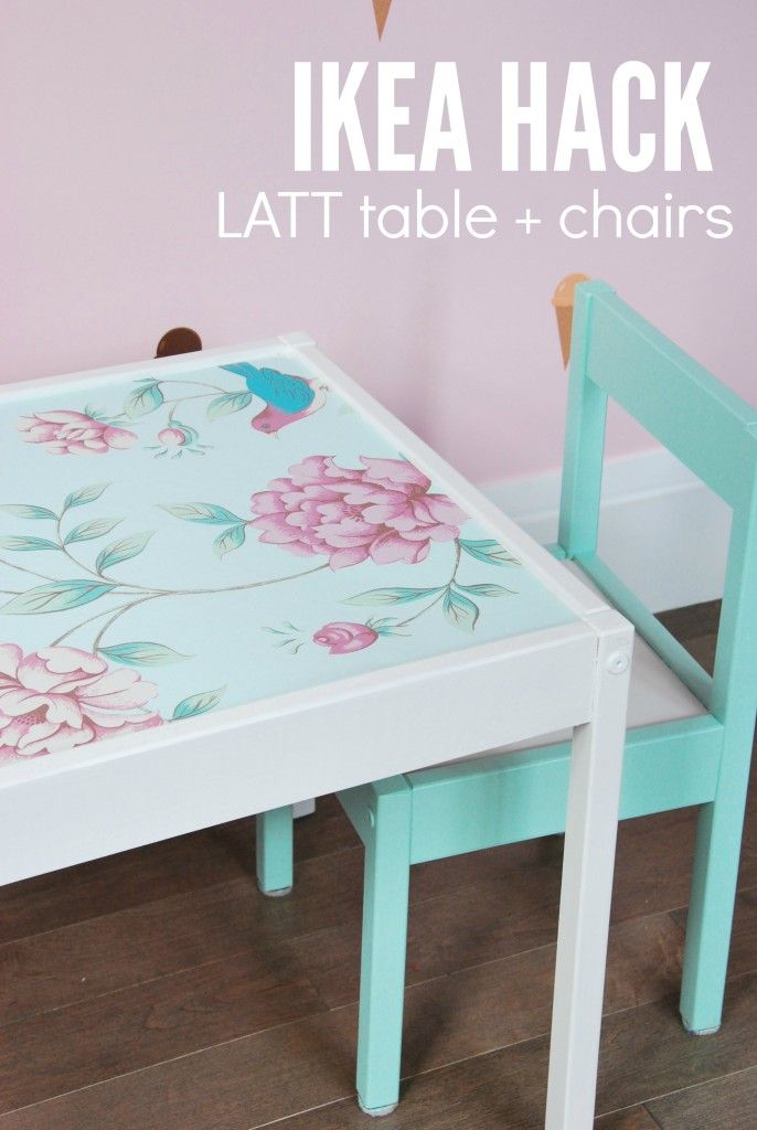 Want to hack the IKEA LATT table and chairs? Here is a great DIY tutorial on how...