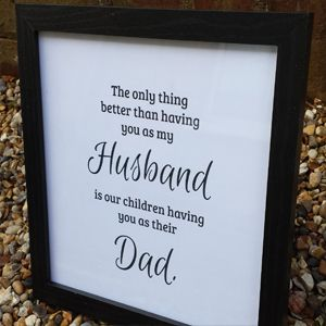 Birthday Gifts Only The Best Husband Get Promoted Print With Black