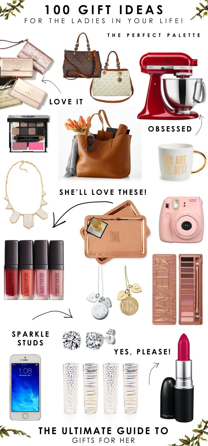 100 Gift Ideas for the Ladies In Your Life! www.theperfectpal...
