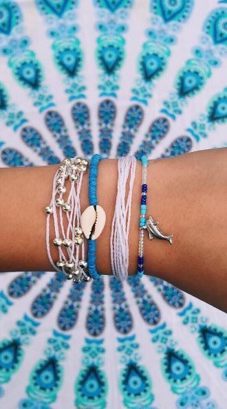 Blue bracelets form Pura vida