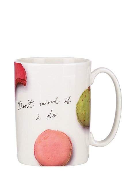 'Don't Mind if I do.' mug #katespade #macarons