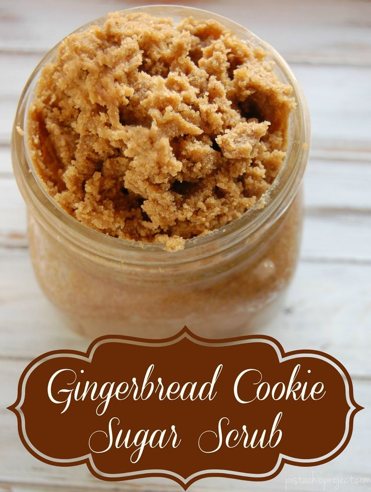 Gingerbread Cookie Sugar Scrub - Like all scrubs, this gingerbread cookie inspir...