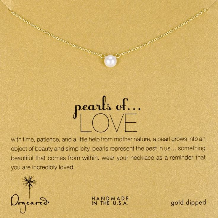 Love White Pearl Necklace
