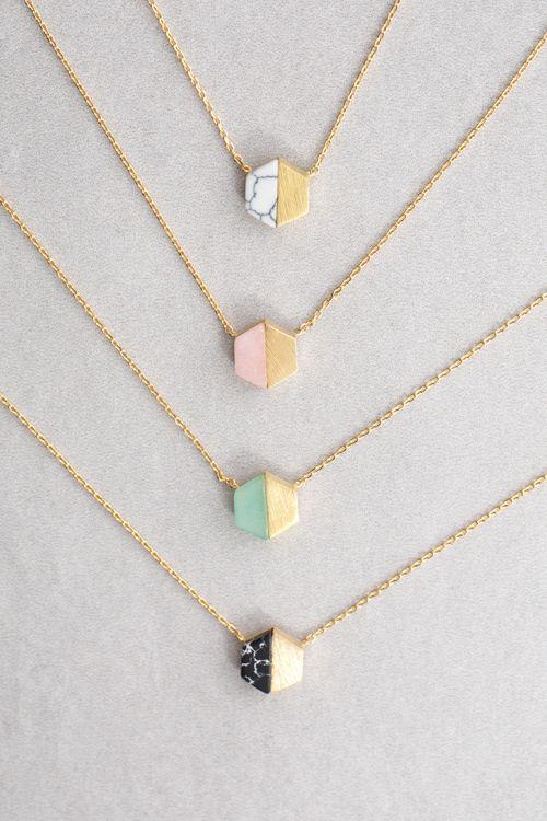 Lovoda - Hexa Stone Necklace, $20.00 (www.lovoda.com/...)