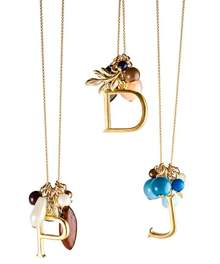 Monogram Necklaces. I just love these for gifts! $50