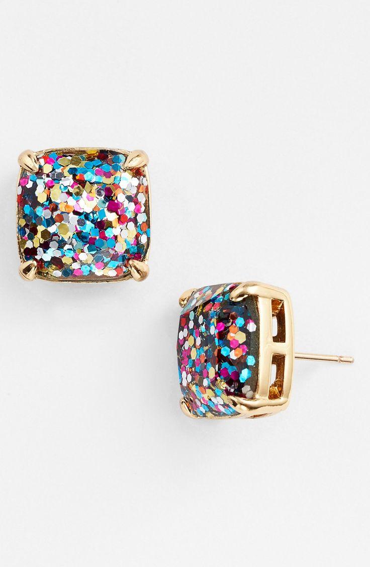 Twinkle twinkle | Kate Spade glitter stud earrings. rstyle.me/...