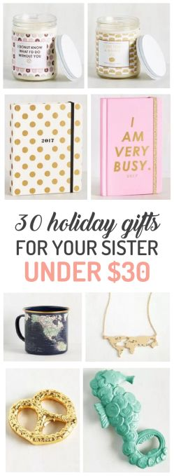 Your sister is your best friend, which is why we have all of the best holiday gi...