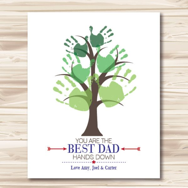 gifts for him ideas best dad hands down diy downloadable print