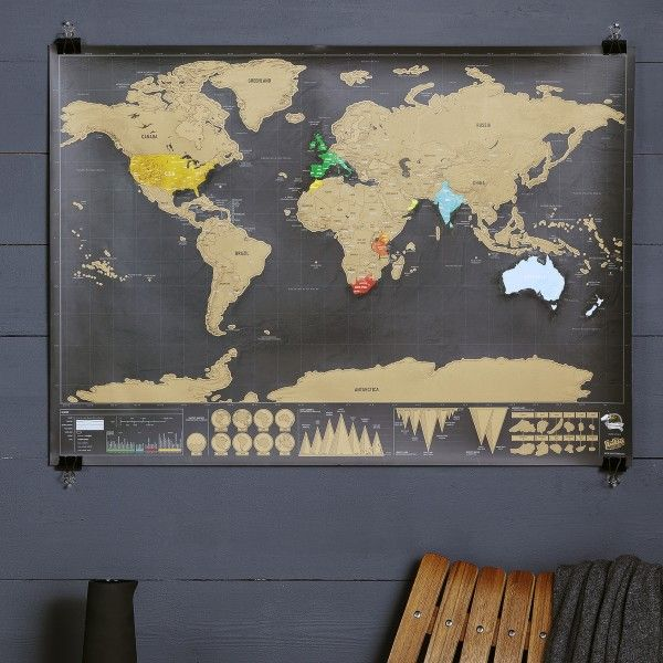 Gifts for him ideas deluxe scratch world map giftsdetective gifts for him gumiabroncs Gallery