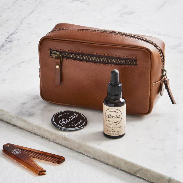 Leather Shaving Kit Bag