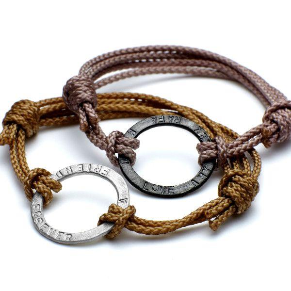 Men's personalised embracelet